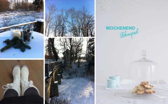 Weihnachtsplätzchen und Winterweiß