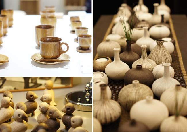 Ganz natürlich: Holz und Keramik