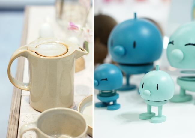 Keramik aus Japan und blaue Hoptimisten