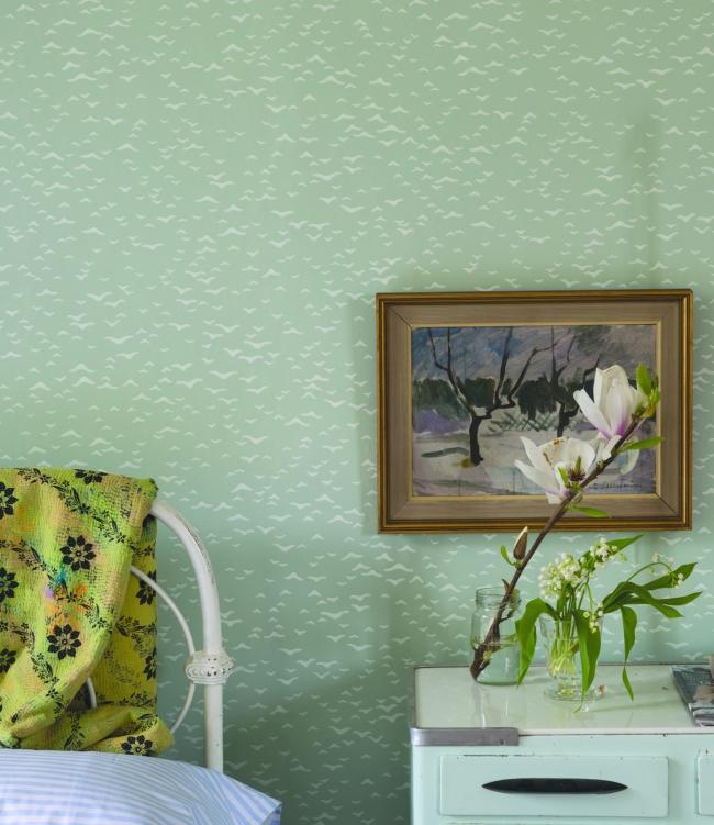 blitzschnell gemacht drei dekotipps mit tapete azurweiss. Black Bedroom Furniture Sets. Home Design Ideas