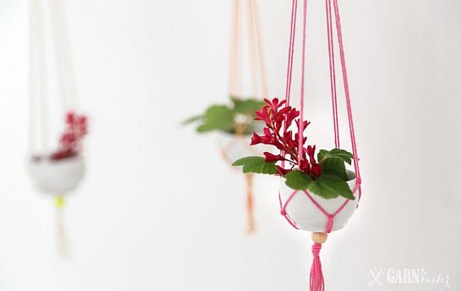 Mini Makramee Vasen | Idee und Foto: garn und mehr