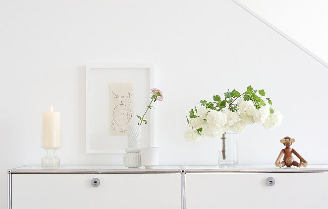 Wohnzimmerdeko ganz in weiß | Foto: Sabine Wittig