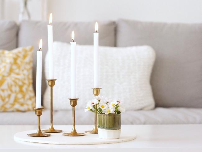 Kerzenleuchter aus Messing | Foto: Sabine Wittig