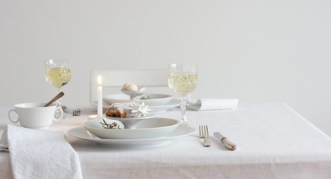 Tischdeko zu Weihnachten