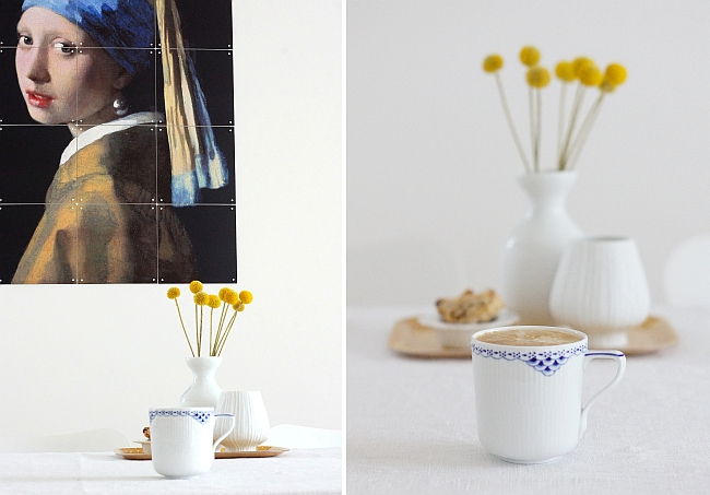 coffee break with Royal Copenhagen mug | photo: Sabine Wittig