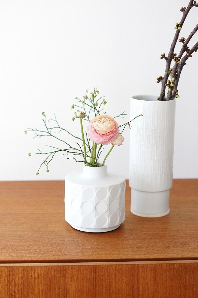 Frühling in Vintage Vasen