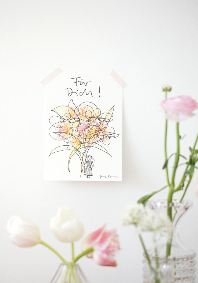 Für Dich Illustration von Jenny Römisch | Foto: Sabine Wittig