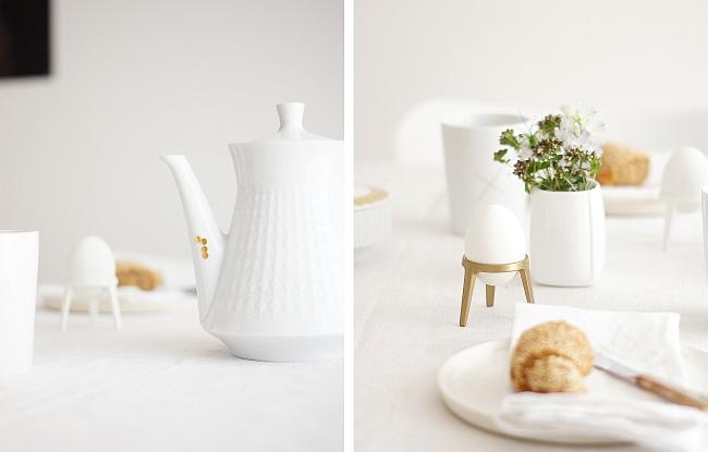 Frühstück in weiß und gold | Styling und Fotos: Sabine Wittig