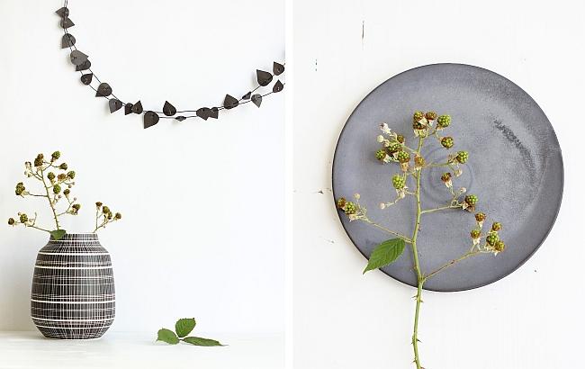 Herbststyling in schwarz/weiß | Fotos: Sabine Wittig