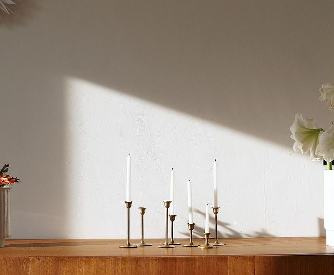 Vintage Kerzenleuchter aus Messing | Foto: Sabine Wittig