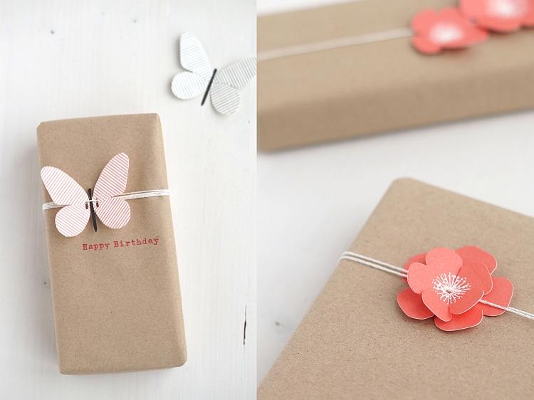 Geschenke verpacken mit Kraftpapier | Fotos: Sabine Wittig