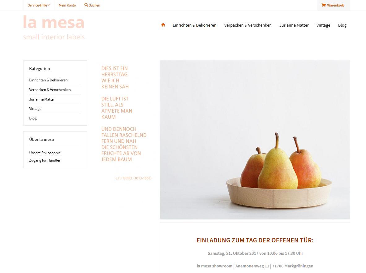 la mesa small interior labels | online shop