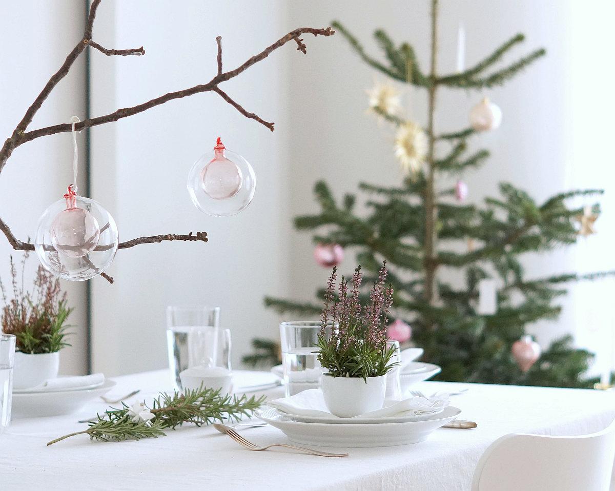 Tischdeko Weihnachten 2017 | Foto: Sabine Wittig