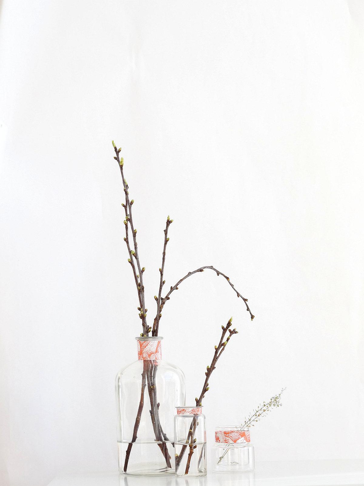 Glasvasen mit Banderole | Foto: Sabine Wittig