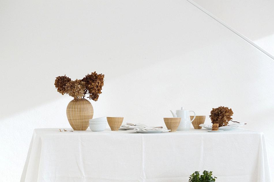 Tischdeko Im Januar Azurweiss Porzellan Blumen Tischdekoration