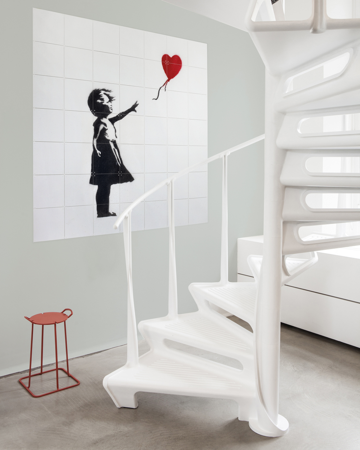 Banksy . Girl with Balloon | Foto: Marije Kuiper | Copyright: IXXI www.ixxiyourworld.com