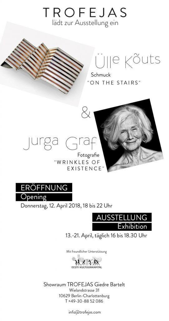 Einladung zur Ausstellung im Trofejas Showraum in Berlin-Charlottenburg