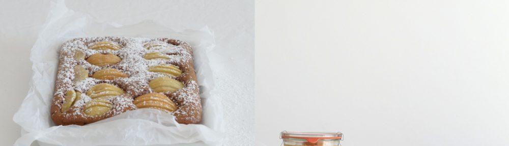 Rezept für Birnen-Schoko-Kuchen aus azurweiss | Fotos: Sabine Wittig