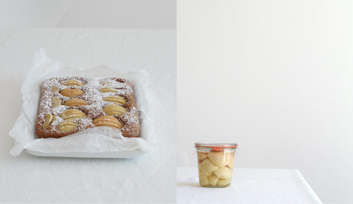 Rezept Für Birnen Schoko Kuchen Aus Azurweiss | Fotos: Sabine Wittig