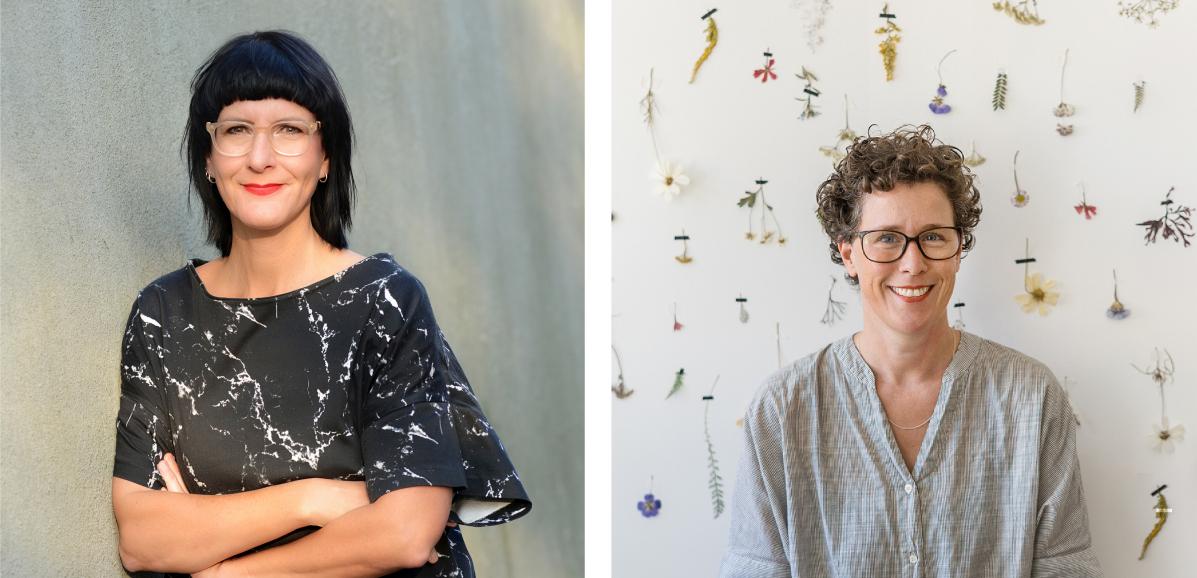 Christiane Hübner und Kathrin Bender | Foto links: Anke Sundermeier; Foto rechts: Jean-Marie Engel