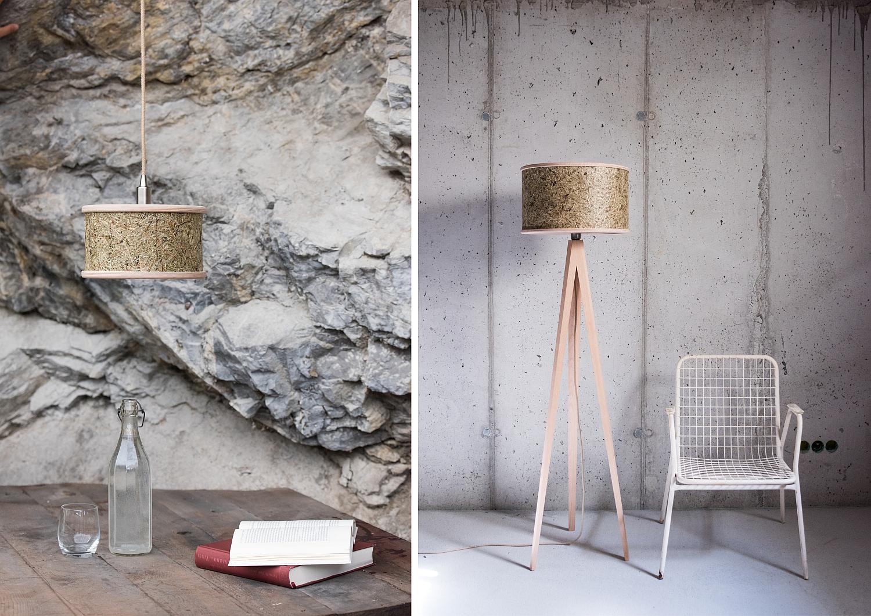 Lampenschirme aus Heu | Fotos: Almut von Wildheim