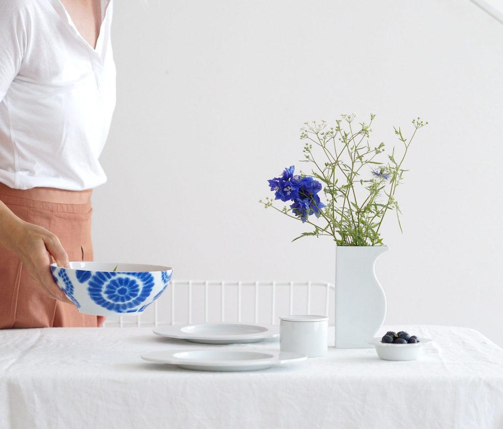 Sommertafel in blau/weiß | Foto: Sabine Wittig