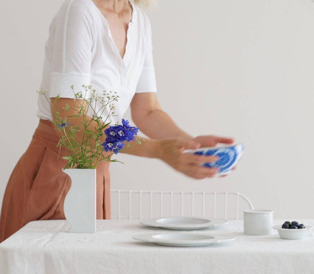 Sommertafel in blau und weiß | Foto: Sabine Wittig